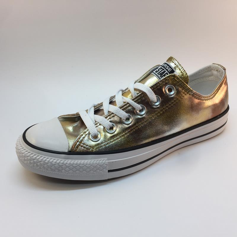 Desierto sangre Arrepentimiento  CONVERSE CHUK TAYLOR ALL STAR SILVER GOLD WHITE 43876 (Sizes From 36 EU to  45 EU) — Lola Kaos | Shoes Passion since 1925
